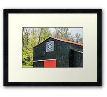 Kentucky Barn Quilt - 2 Framed Print