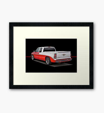Retro Bel Air Pick-Up Truck Framed Print