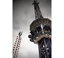 The Tower from a Free Fall Ride at a Carnival Photographic Print