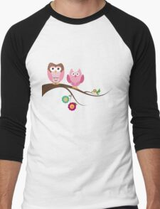 Couple owls Men's Baseball ¾ T-Shirt