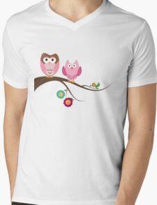 Couple owls Mens V-Neck T-Shirt
