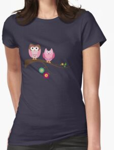 Couple owls Womens Fitted T-Shirt