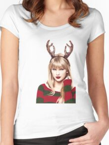 Merry Christmas Taylor Swift Women's Fitted Scoop T-Shirt