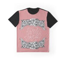 """We are Made of Stories."" Floral Drawing & Pink Graphic T-Shirt"