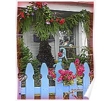 Christmas Front Porch Poster