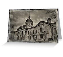 Frontenac County Court House - textured Greeting Card