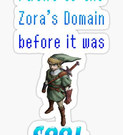 Hipster Link Zora's Domain Sticker