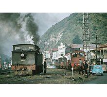 Steam engines Greymouth NZ (Feature Smoke Photog) 196503090099 Photographic Print