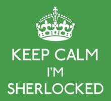 Keep Calm, I'm Sherlocked Kids Clothes