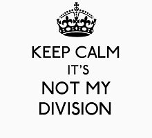 Keep Calm, it's Not My Division (Black)  Men's Baseball ¾ T-Shirt