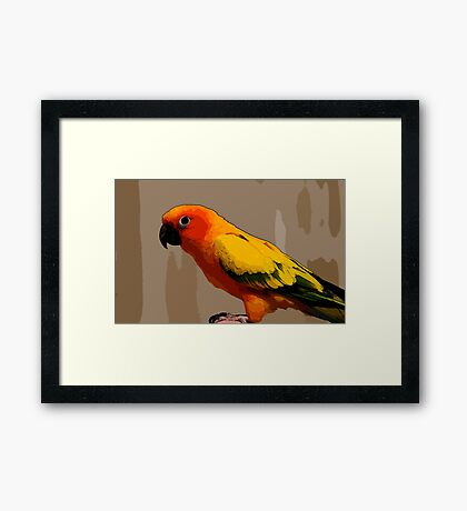 128 art Framed Print