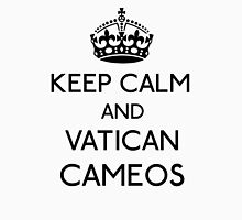 Keep Calm and Vatican Cameos (Black) Men's Baseball ¾ T-Shirt