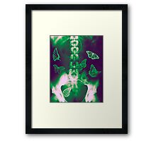 Butterflies in the stomach - x-ray  Framed Print