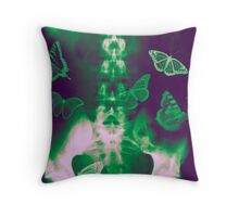 Butterflies in the stomach - x-ray  Throw Pillow