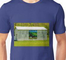 Barn - Wild Turkey Mural Unisex T-Shirt