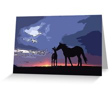 Horses in Love Greeting Card