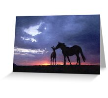 Horses in Love 2 Greeting Card
