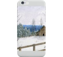 Wintry Barn iPhone Case/Skin