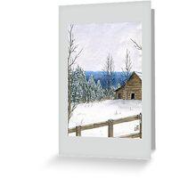 Wintry Barn Greeting Card