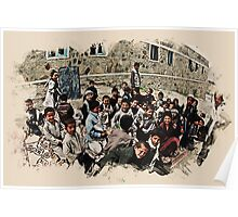 afghan school children Poster