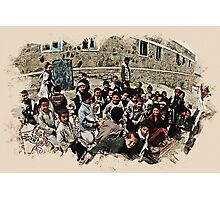 afghan school children Photographic Print