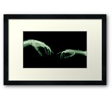 The Creation of Adam (Michelangelo) two hands under x-ray Framed Print