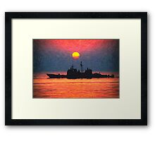 alone in the golden seas Framed Print