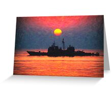 alone in the golden seas Greeting Card