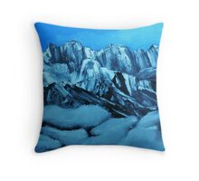 Clouds in the Swiss Alps Throw Pillow