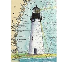 Amelia Island Lighthouse FL Chart Cathy Peek Photographic Print