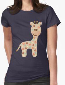 Baby giraffe Womens Fitted T-Shirt