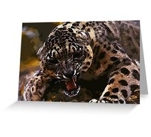 angry cheetah Greeting Card