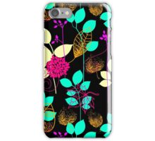 Foliage Orange & Aqua [iPhone / iPod Case and Print] iPhone Case/Skin