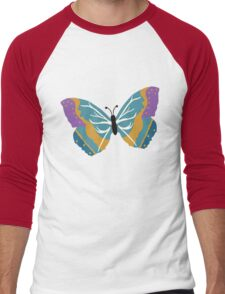 Vector illustration of beautiful butterfly Men's Baseball ¾ T-Shirt