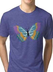 Vector illustration of beautiful butterfly Tri-blend T-Shirt