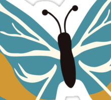 Vector illustration of beautiful butterfly Sticker