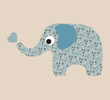 Elephant Seamless background by Ana Marques