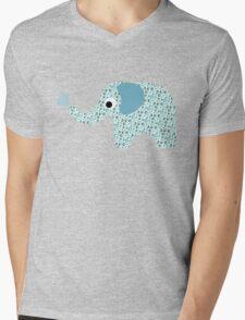Elephant Seamless background Mens V-Neck T-Shirt