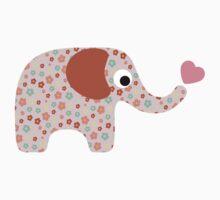 Elephant Seamless background by Ana Marques
