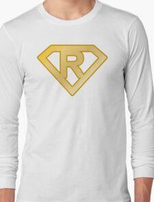 Golden superman letter Long Sleeve T-Shirt