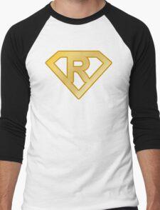 Golden superman letter Men's Baseball ¾ T-Shirt
