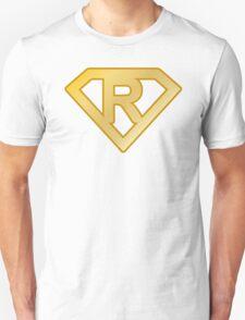 Golden superman letter Unisex T-Shirt