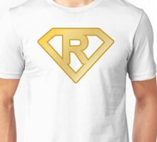 Golden superman letter Unisex T-Shirt