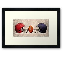 american football hdr Framed Print