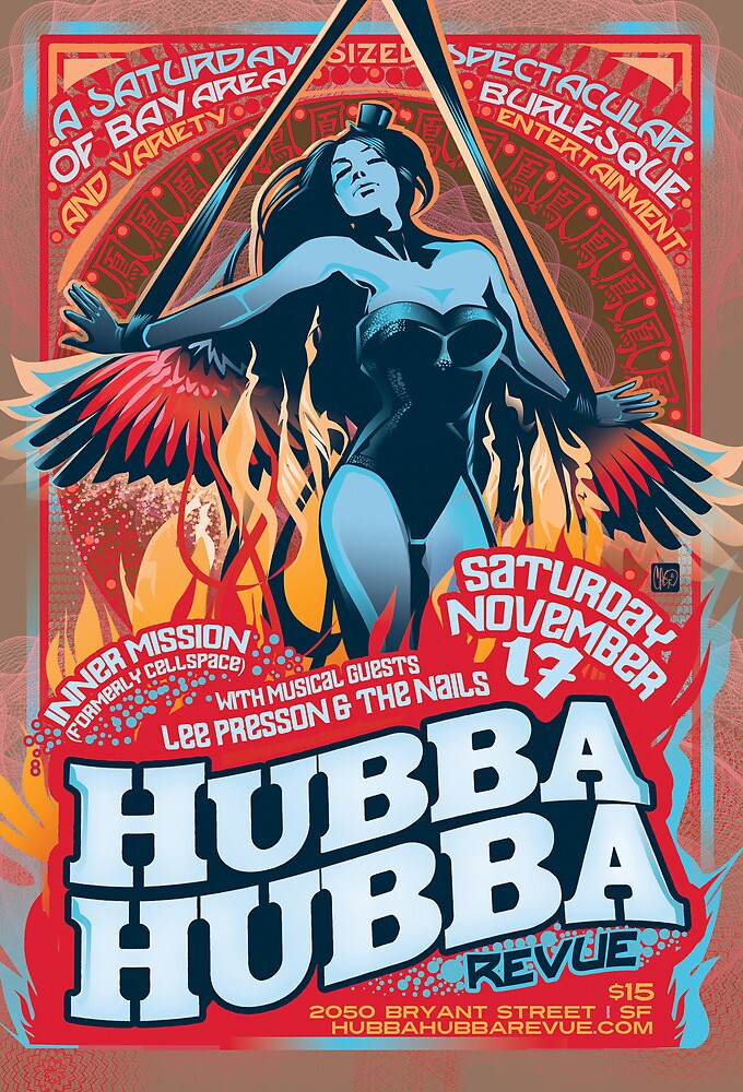 Poster for Hubba Hubba Revue, November 2012 by caseycastille