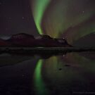 reflected northern lights by JorunnSjofn Gudlaugsdottir