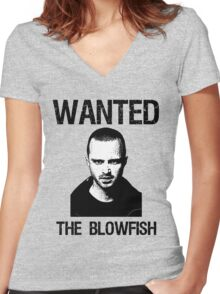 blowfish Women's Fitted V-Neck T-Shirt