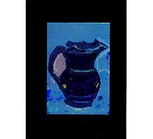 dark blue jug Photographic Print