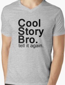Cool Story Bro. Mens V-Neck T-Shirt