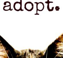 peace.  love.  adopt. Sticker